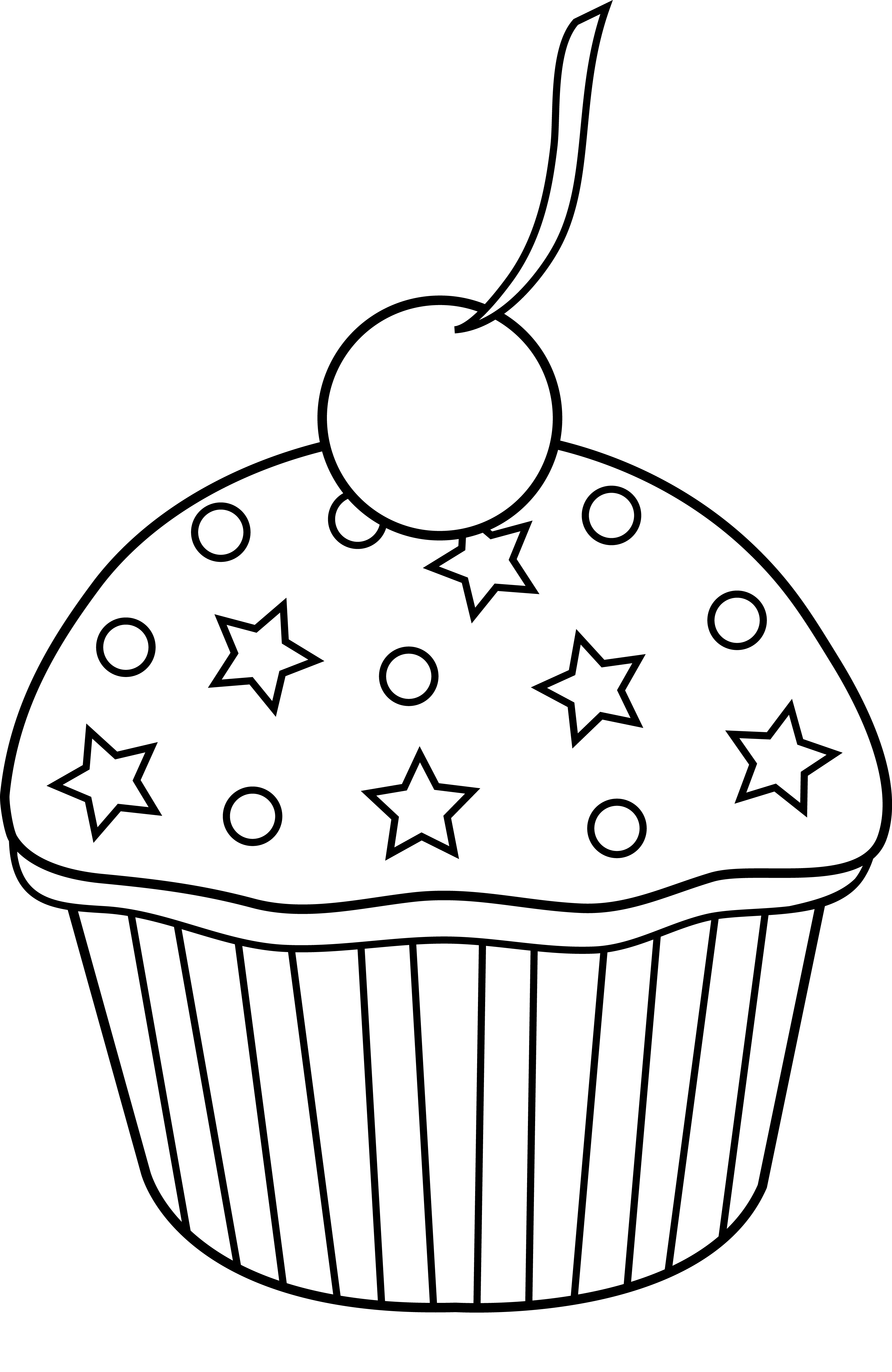 Stack of cupcakes clipart black and white banner freeuse stock Cupcake cup cake clip art art of white party icons app clip ... banner freeuse stock