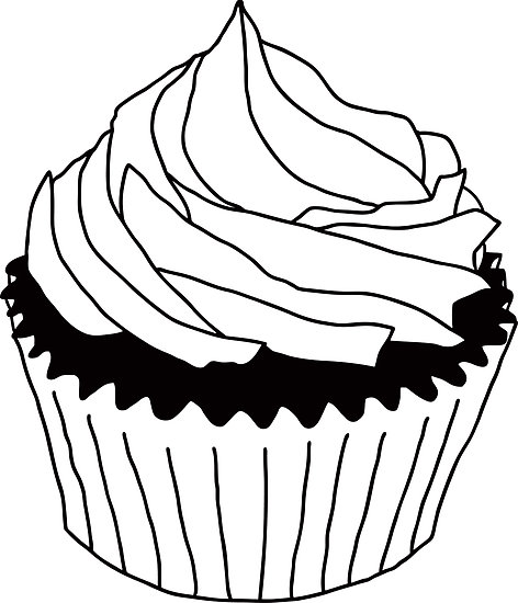Stack of cupcakes clipart black and white freeuse download Cake Clipart Black And White | Free download best Cake ... freeuse download
