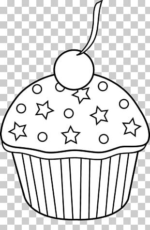 Stack of cupcakes clipart black and white vector transparent stock Cupcake Muffin Icing Black And White PNG, Clipart, Bitmap ... vector transparent stock