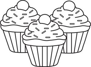 Stack of cupcakes clipart black and white jpg royalty free download Sprinkles paintings search result at PaintingValley.com jpg royalty free download