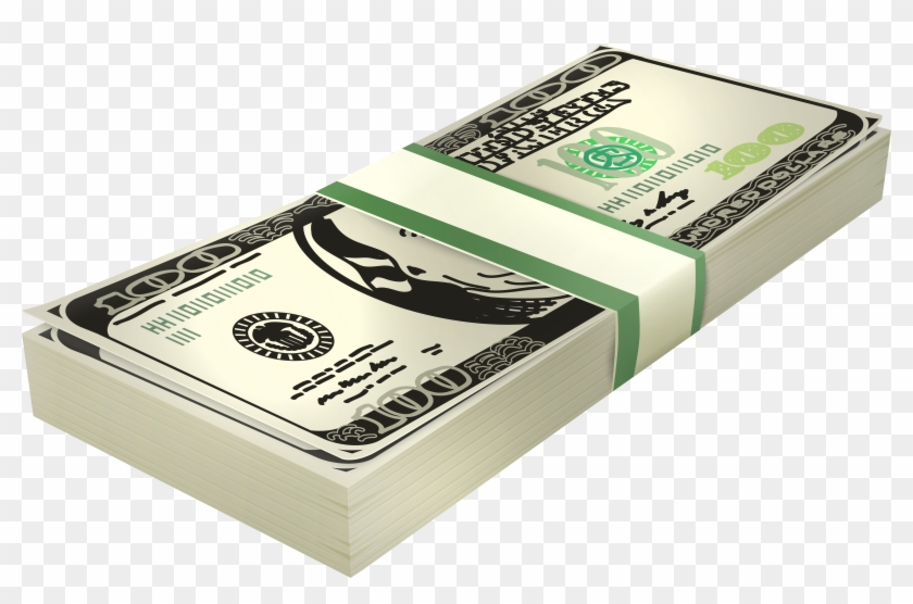Stack of dollars clipart jpg freeuse library Stack Of 100 Us Dollar Banknotes Png Clipart - Box ... jpg freeuse library