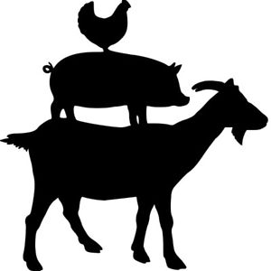 Stacked barnyard animals clipart black and white clipart transparent library Details about *Stacked farm animals* permanent vinyl decal for  crafting/DIY/Window application clipart transparent library