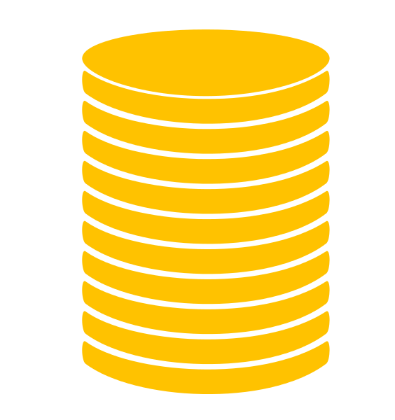 Stacked money clipart graphic transparent download File:Coin stack icon GOLD-01.svg - Wikimedia Commons graphic transparent download