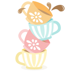 Witch tea cup clipart clip freeuse Tea Cups Stacked SVG cutting files for scrapbooking cute ... clip freeuse