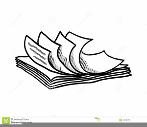 Stacks of paper clipart banner black and white library Clipart Of Stacks Of Papers | Free Images at Clker.com ... banner black and white library