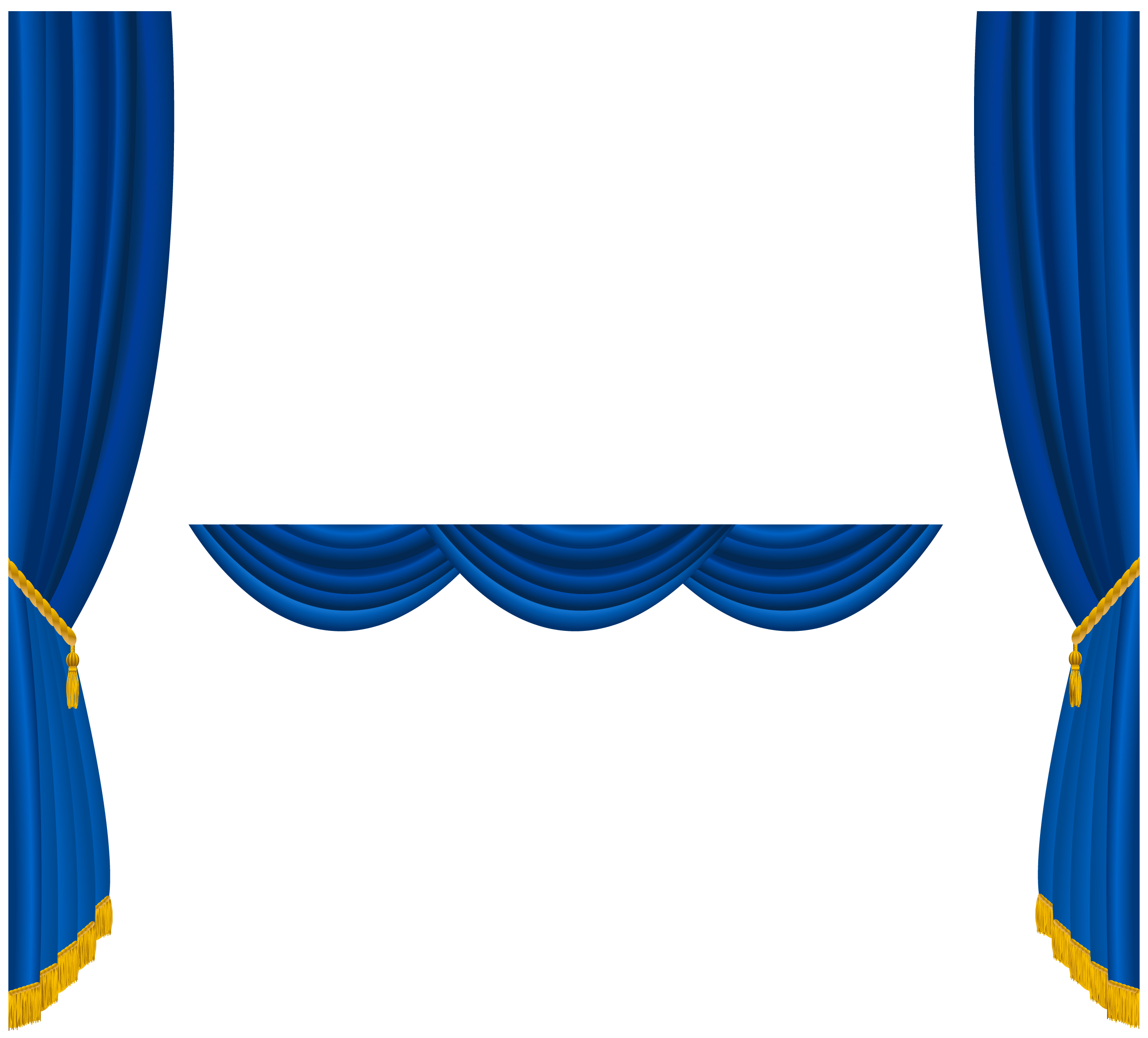 Stage star clipart banner free Transparent Blue Curtains Decoration PNG Clipart | Gallery ... banner free