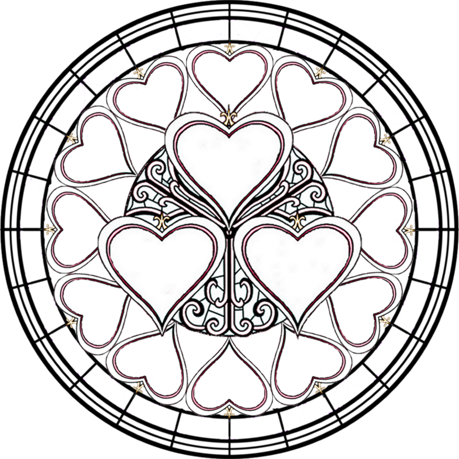 Stain glass cross clipart svg library stock Hearts Crosses Coloring Pages svg library stock
