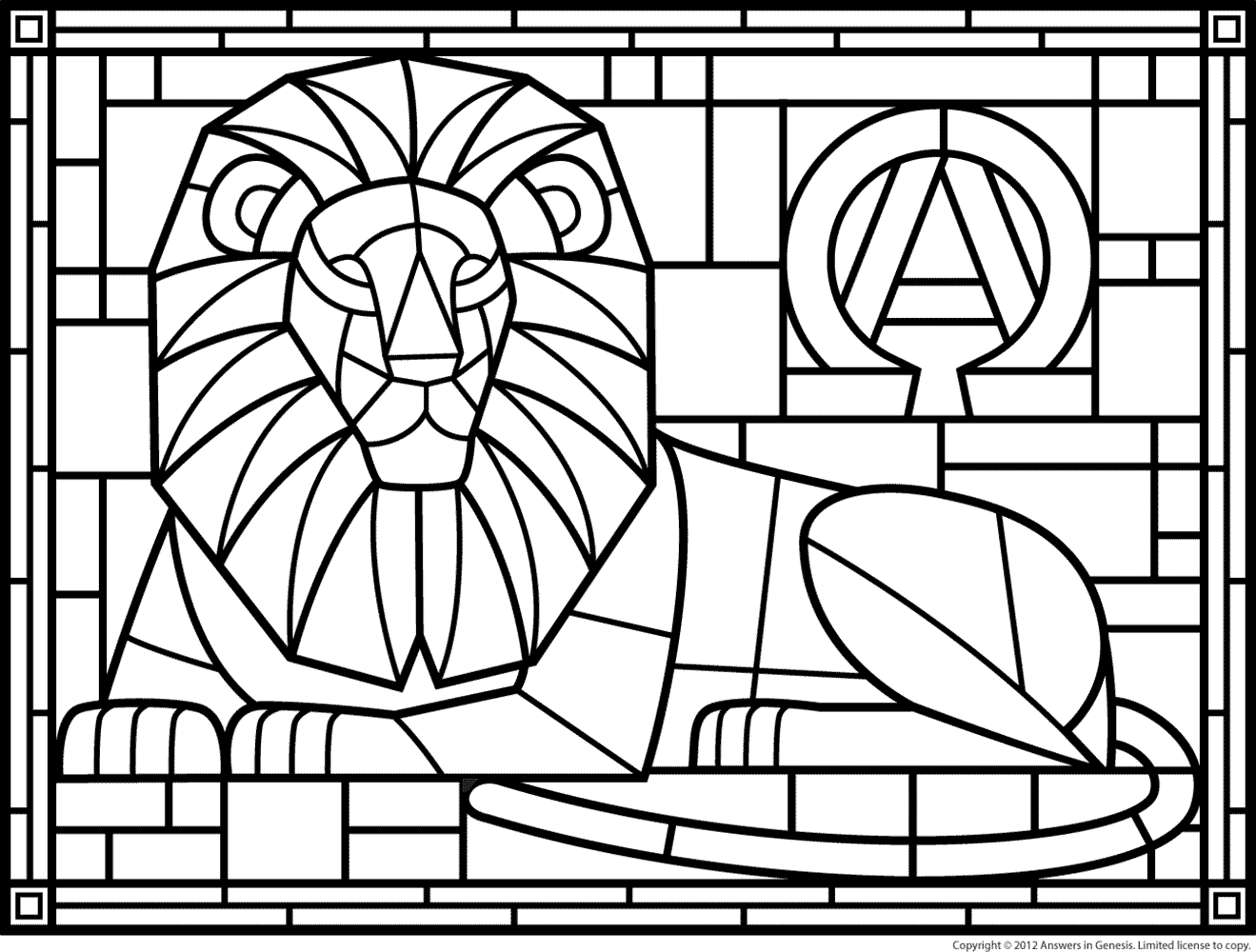 Stained glass clipart free black and white cross png royalty free library Coloring Pages Stained Glass Patterns Page 1 | ART components ... png royalty free library