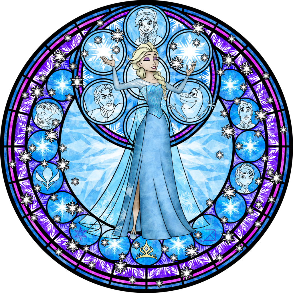 Stained glass star clipart vector free library Elsa Stained Glass Vector by Akili-Amethyst.deviantart.com on ... vector free library