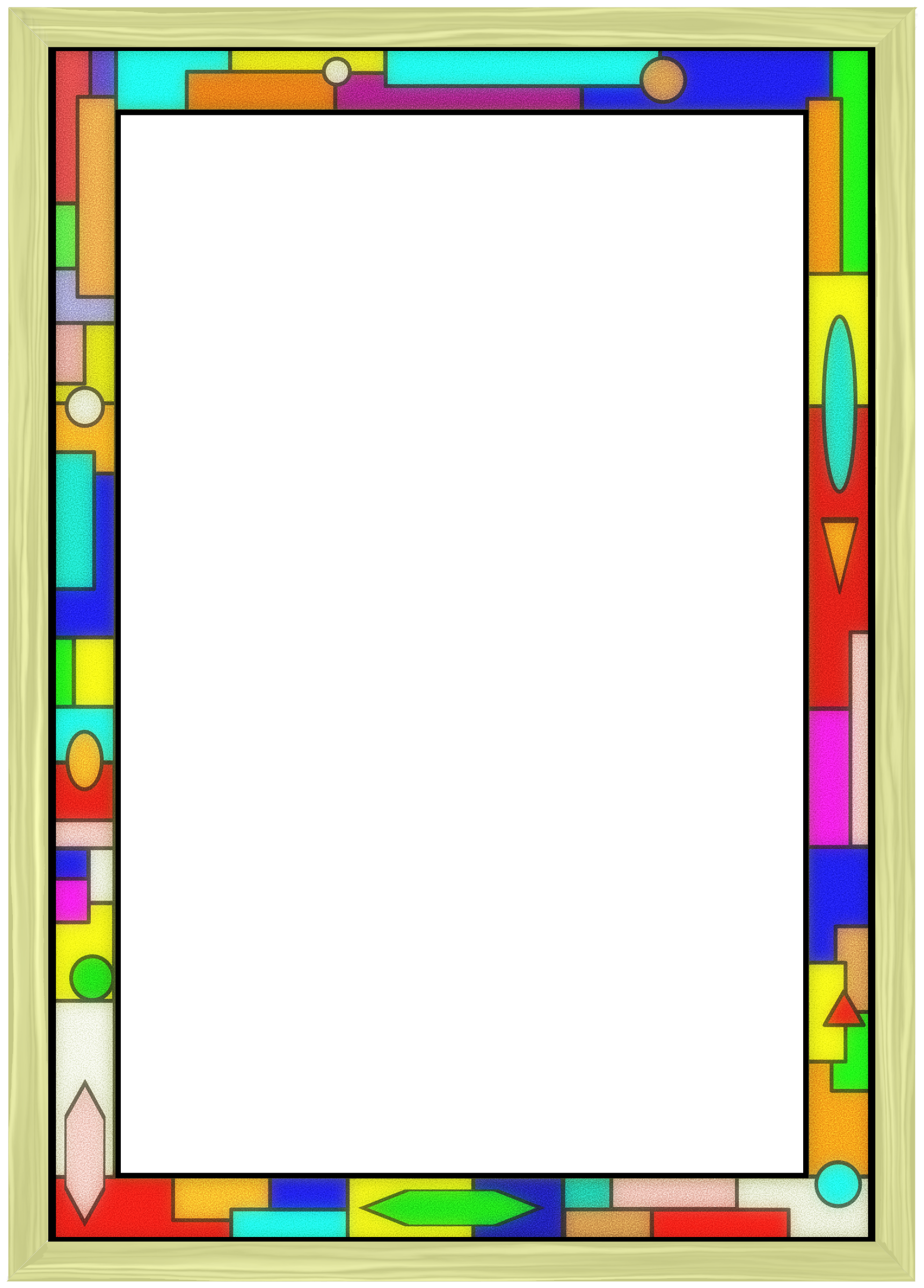 Stained glass star clipart graphic Stained Glass Border 02 by Arvin61r58 | FRAMES...and...BORDERS ... graphic