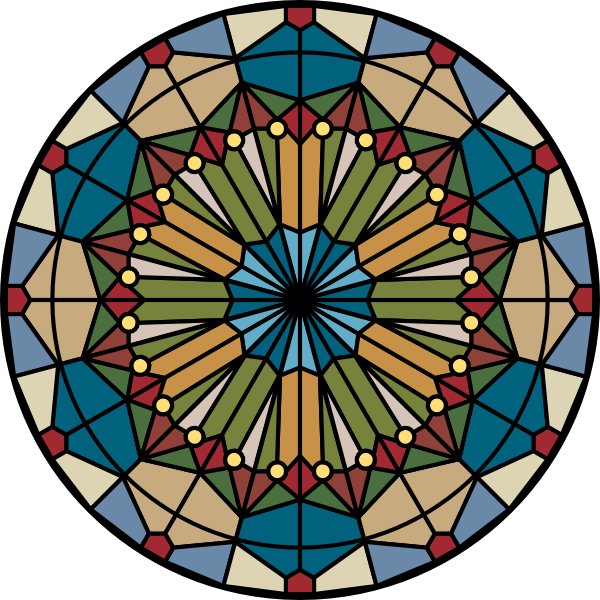 Stained glass star clipart picture black and white library Glass Stained Glass Clip Art at Clker.com - vector clip art online ... picture black and white library