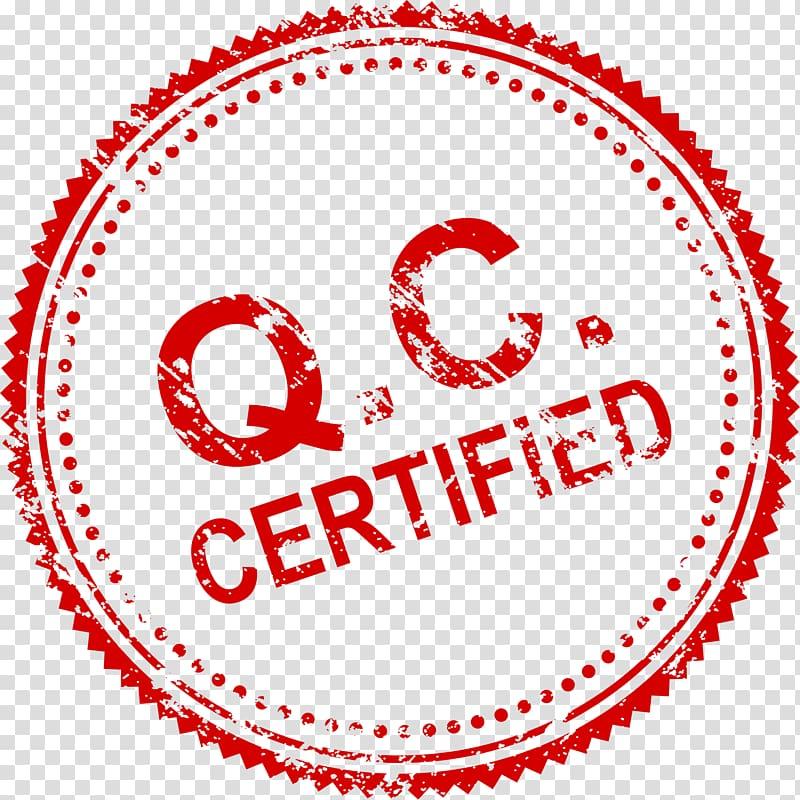 Stamp logo clipart freeuse download Q.C. certified logo, Rubber stamp, Seal transparent ... freeuse download