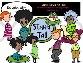 Stand tall clipart vector library library Stand Tall Clipart Pack | clipart for teachers | Molly lou ... vector library library