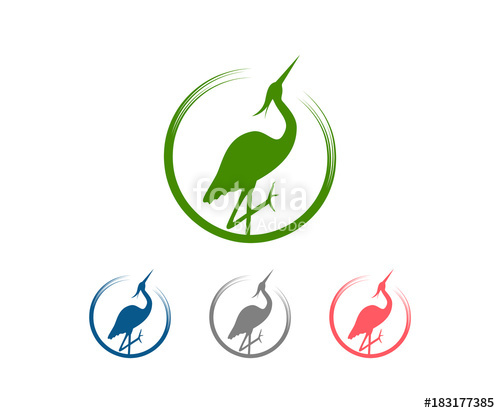Stand up clipart circle graphic library download Classic Circle with Animal Stork Stand Up Illustration Logo ... graphic library download