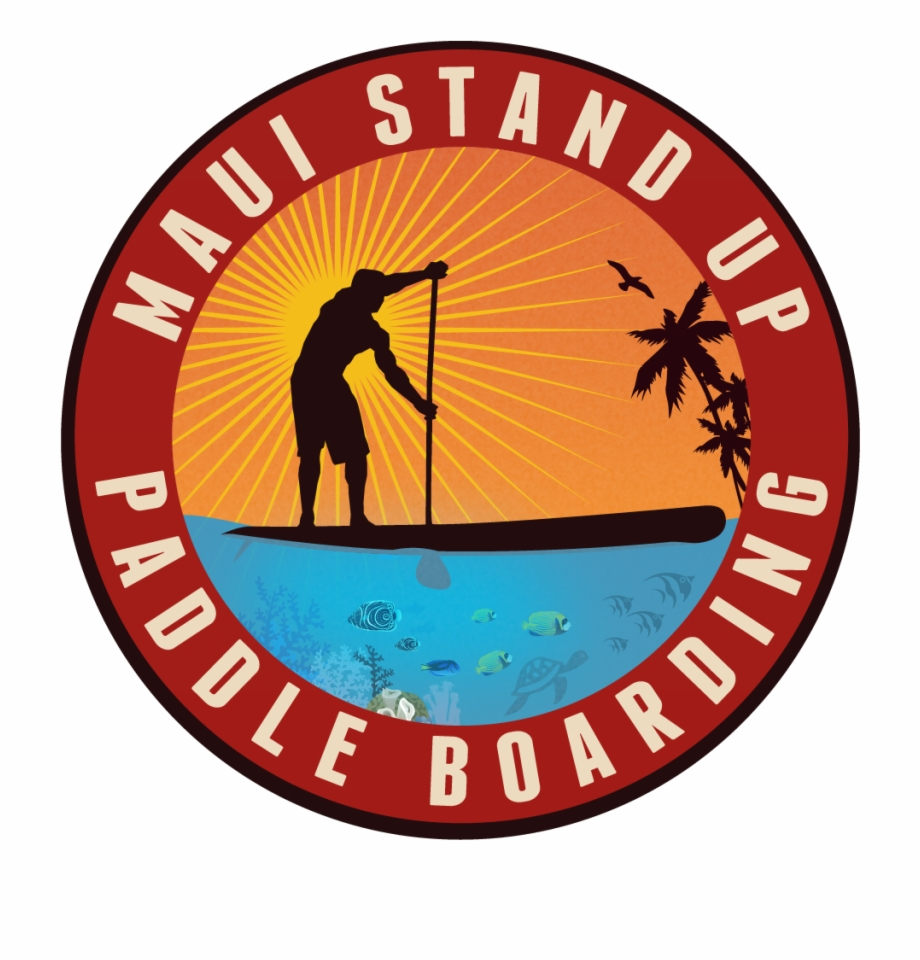 Stand up clipart circle picture royalty free download Maui Stand Up Paddle Boarding - Stand Up Paddle Board Logo ... picture royalty free download
