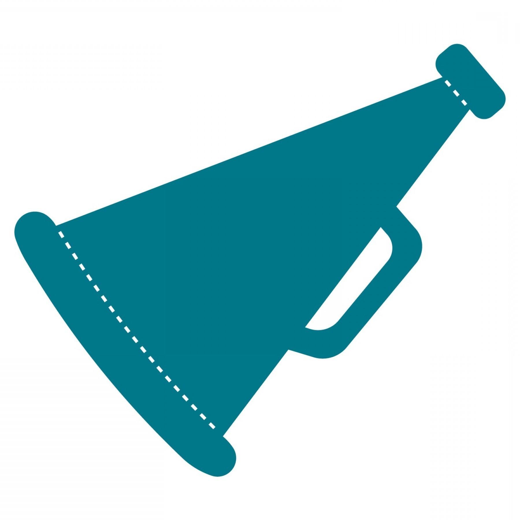 Standing cheer megaphone clipart vector transparent download Cheer Megaphone Clipart | Clipart vector transparent download