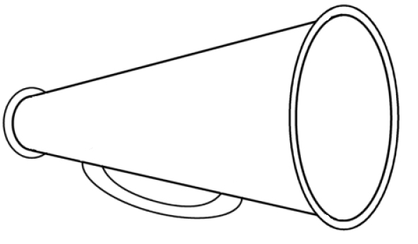 Standing cheer megaphone clipart free library Cheerleader Megaphone Clipart & Look At Clip Art Images ... free library