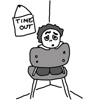 Standing in corner time out clipart black and white svg black and white library Timeout + Zachary = A Confusing 30 seconds of staring at the ... svg black and white library