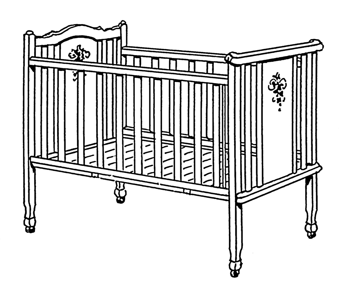 Standing in corner time out clipart black and white clip transparent stock Infant bed - Wikipedia clip transparent stock
