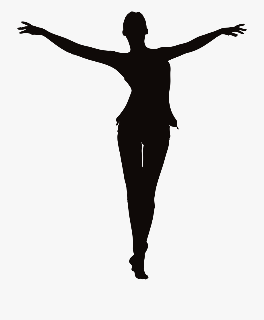 Standing with arms and legs spread clipart svg free download Arm Clipart Free - Silhouette Woman Open Arms #144799 - Free ... svg free download