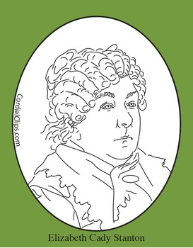 Stanton clipart image library stock Elizabeth Cady Stanton Clip Art, Coloring Page or Mini Poster image library stock