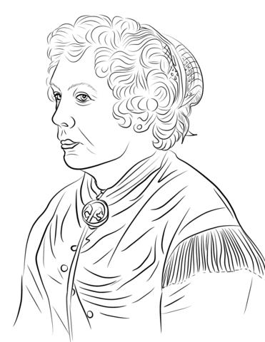 Stanton clipart royalty free stock Elizabeth Cady Stanton coloring page   Free Printable ... royalty free stock