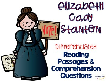 Stanton clipart clip art royalty free stock Elizabeth Cady Stanton Differentiated Reading Passages & Questions clip art royalty free stock