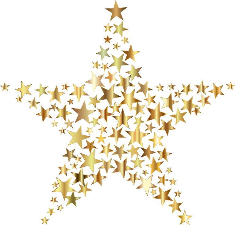 Star background clipart clip royalty free stock Clipart - Gold Star Fractal No Background clip royalty free stock