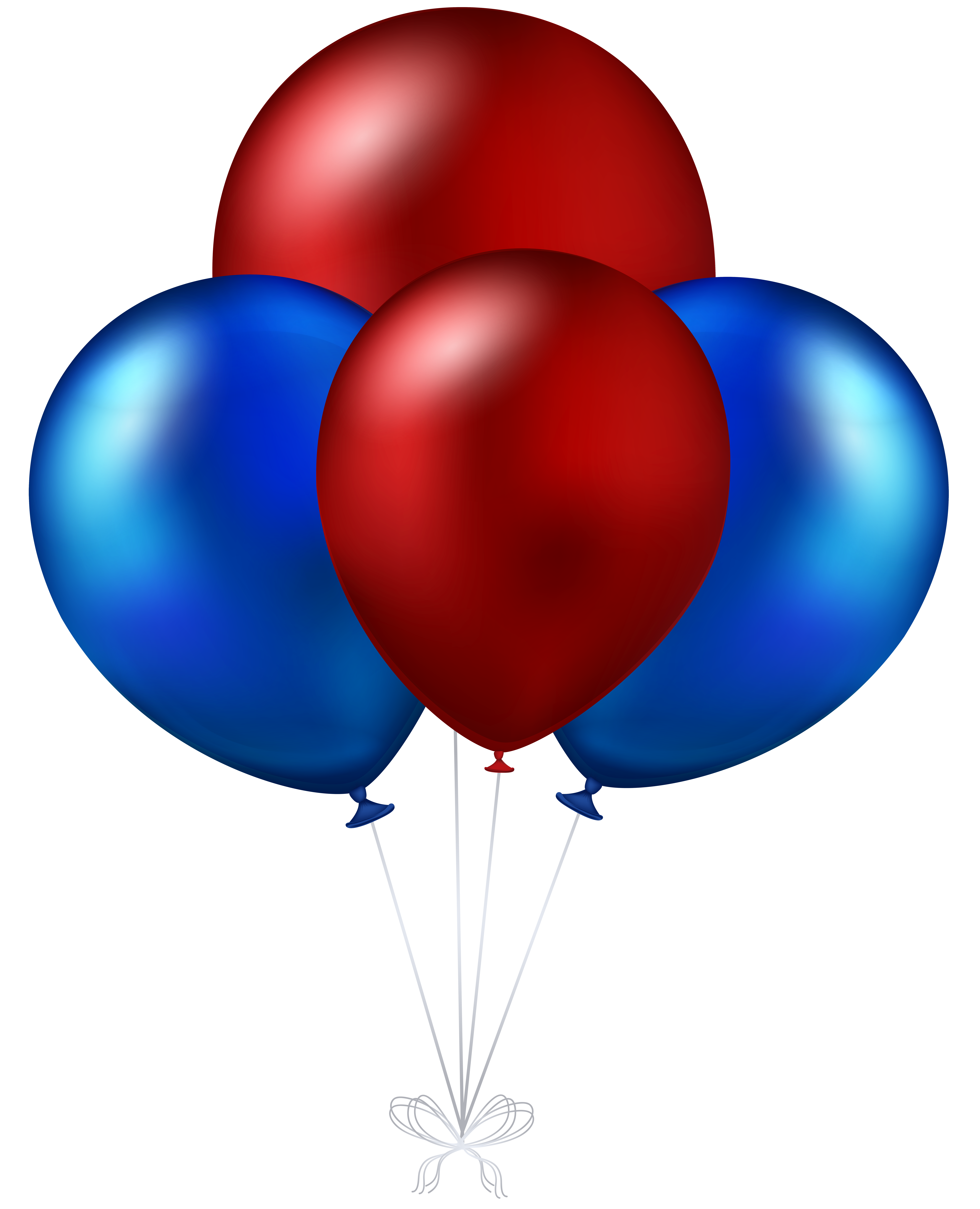 Star balloons clipart royalty free library Red and Blue Balloons Transparent PNG Clip Art Image | Gallery ... royalty free library