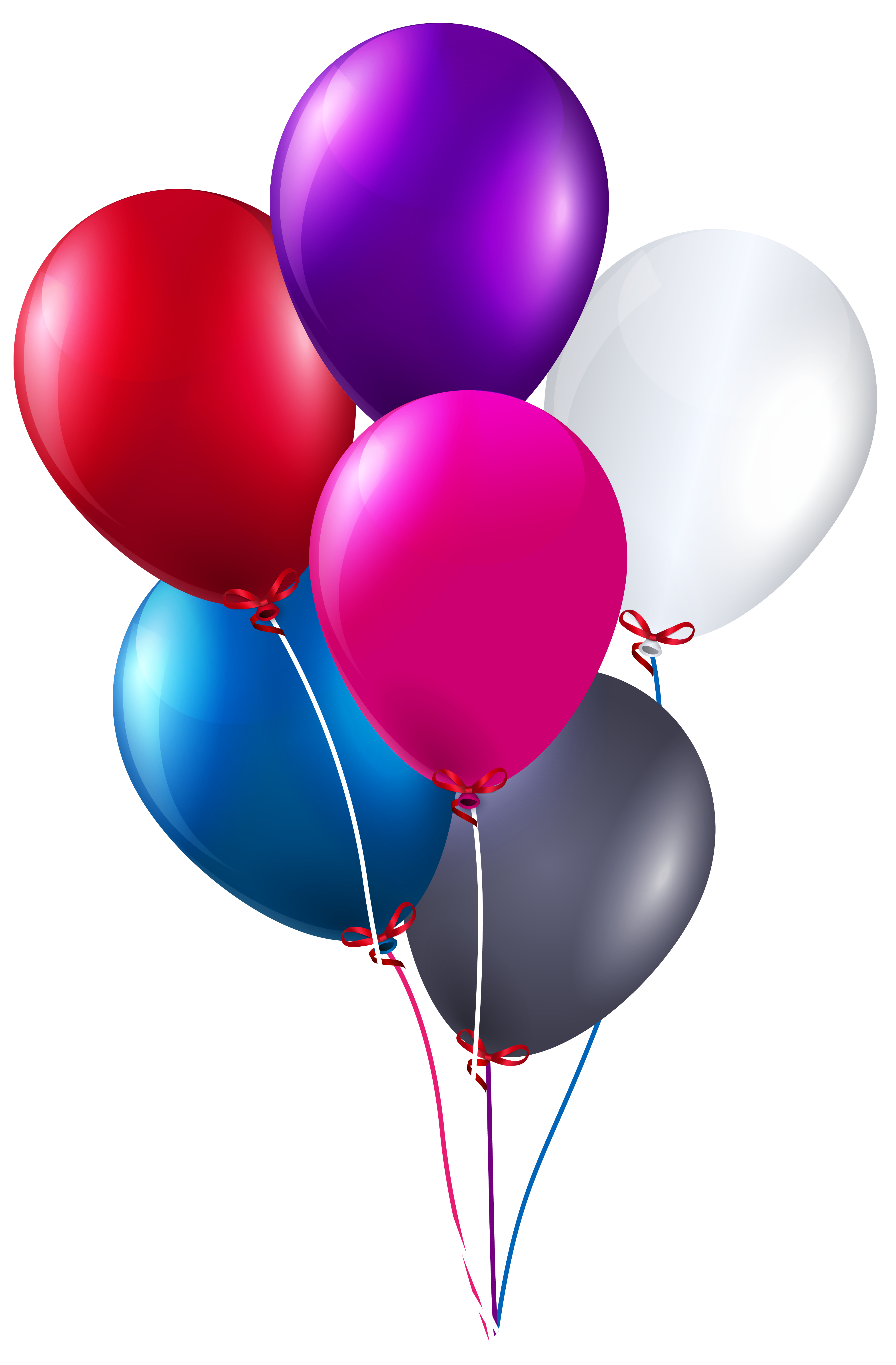 Star balloons clipart vector black and white stock Colorful Bunch of Balloons PNG Clipart Image | Gallery Yopriceville ... vector black and white stock