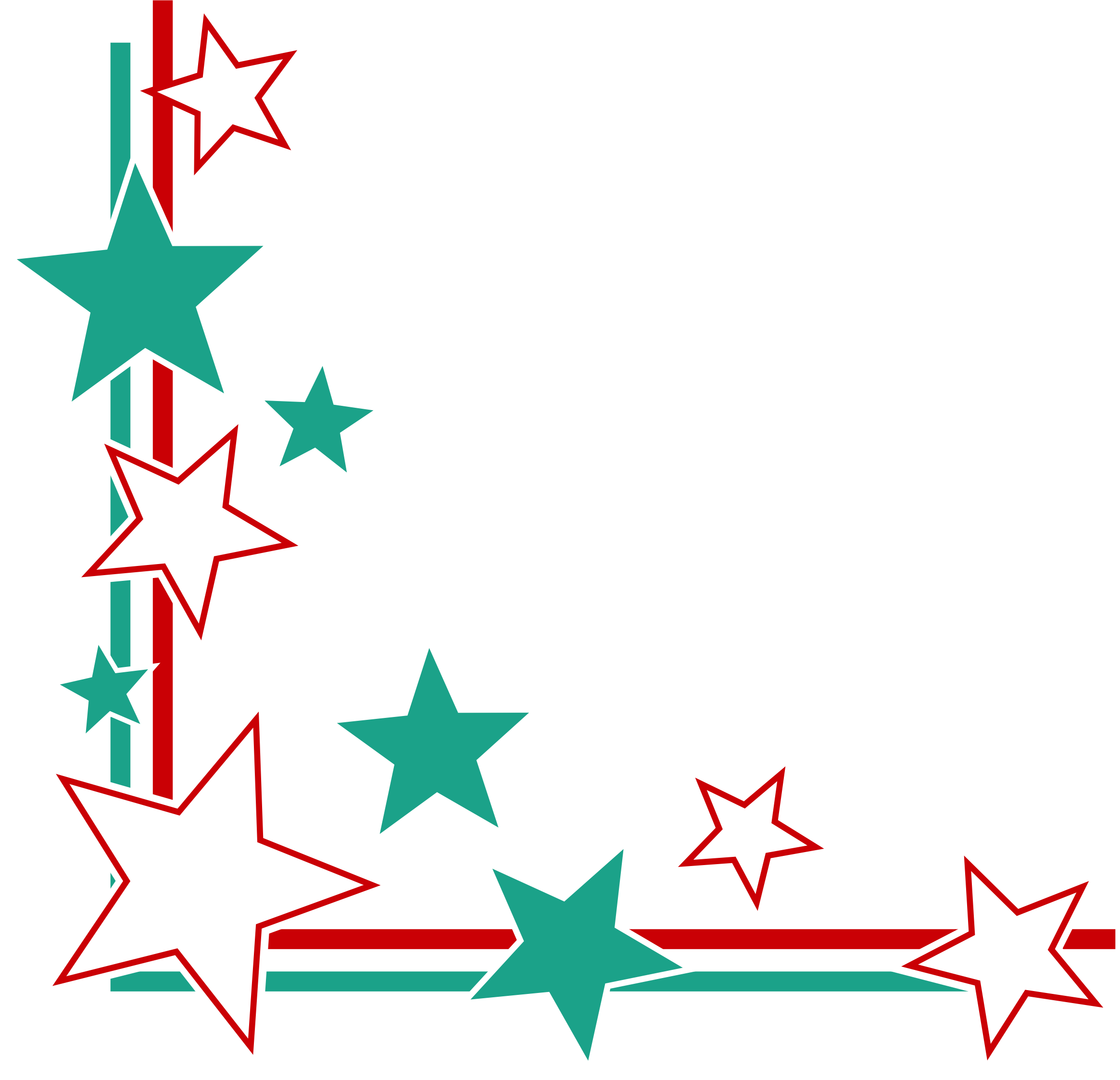 Star border clipart svg free stock Clipart - Page Corner Border svg free stock