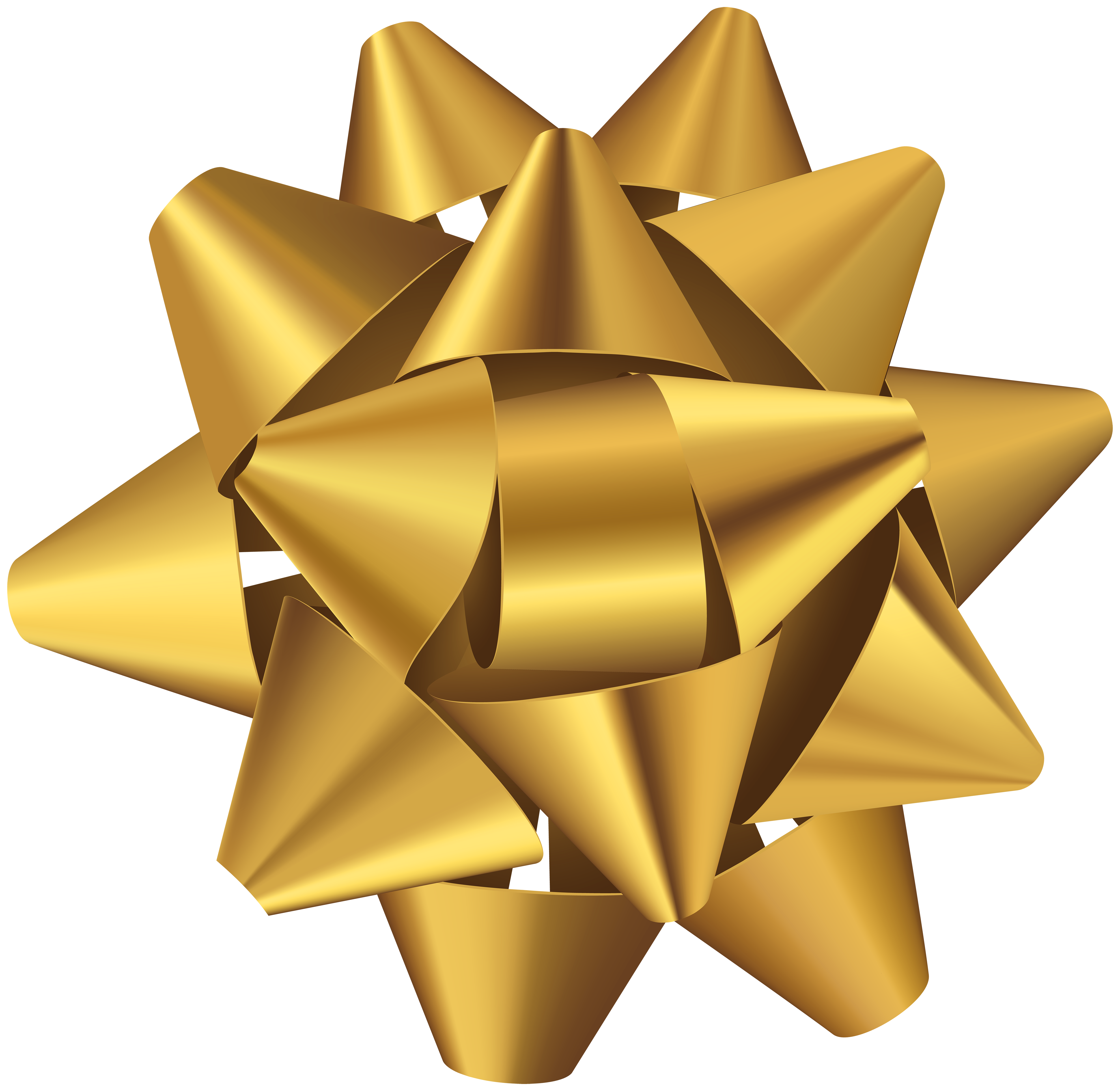 Star bow clipart picture free download Golden Bow Deco Transparent Clip Art Image | Gallery Yopriceville ... picture free download