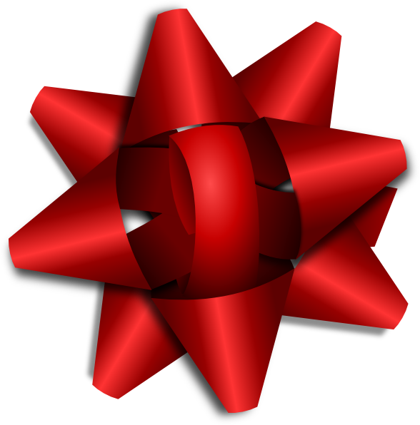 Star bow clipart png free Red Ribbon Bow Clip Art at Clker.com - vector clip art online ... png free