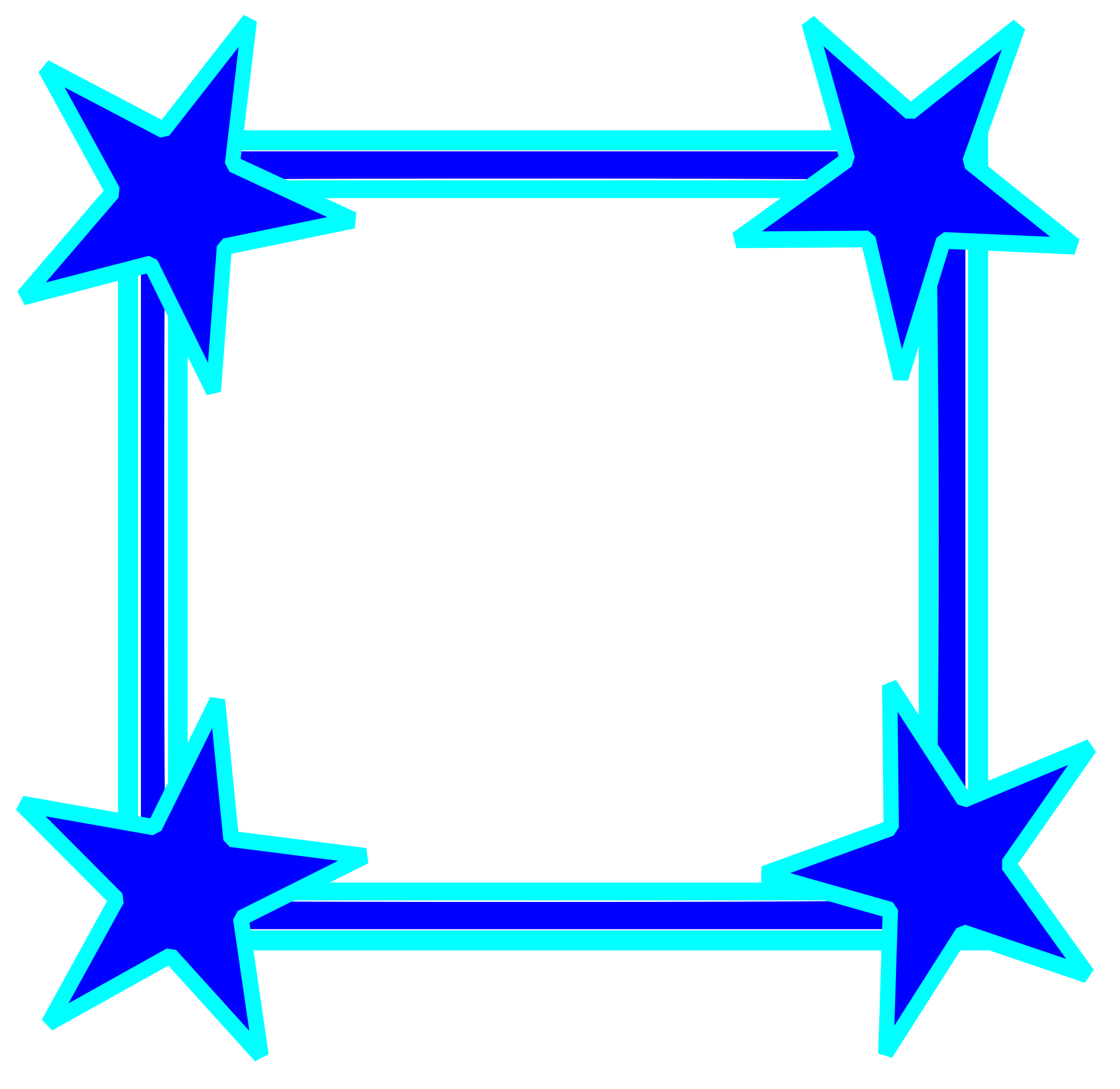 Star frame clipart png royalty free library Clipart - Simple Bright Blue Star Cornered Frame png royalty free library