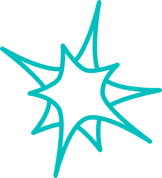 Star burst clipart black and white png transparent library Teal Star Clip Art at Clker.com - vector clip art online, royalty ... png transparent library