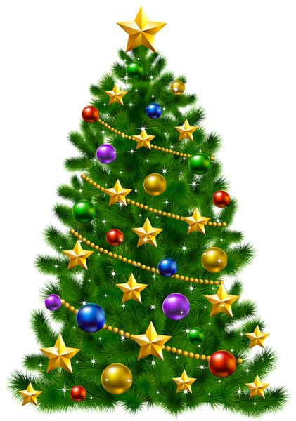 Star christmas message clipart