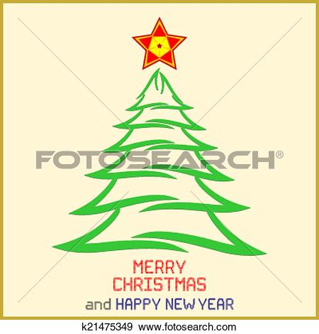 Star christmas message clipart graphic transparent download Clip Art of Christmas Message with Tree k21475349 - Search Clipart ... graphic transparent download