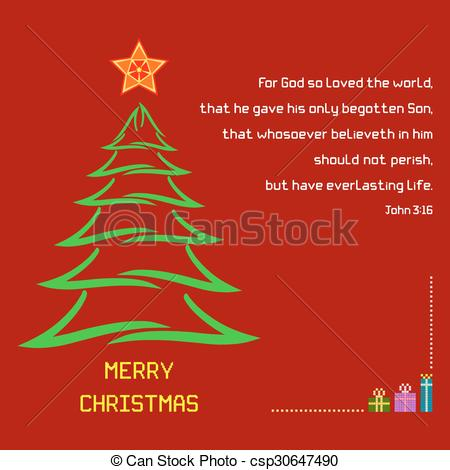Star christmas message clipart clipart free library EPS Vectors of Christmas Holy Bible verse John 316 - A Christmas ... clipart free library