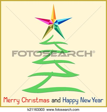 Star christmas message clipart picture free Clipart of Christmas Message with Tree k21163303 - Search Clip Art ... picture free