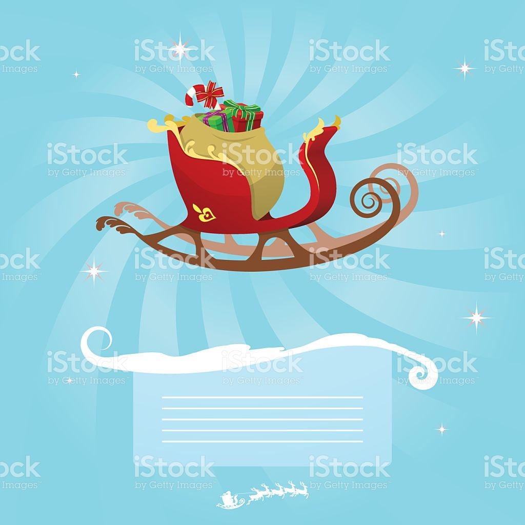 Star christmas message clipart image freeuse download Christmas Message Santas Sleigh stock vector art 94022487   iStock image freeuse download