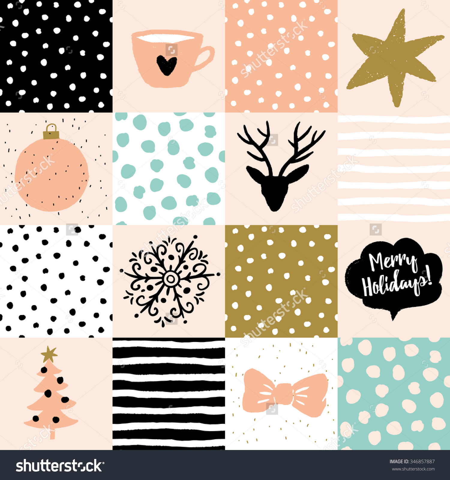 Star christmas message clipart graphic download Christmas Patchwork Illustration. Vector Seamless Pattern. Snow ... graphic download
