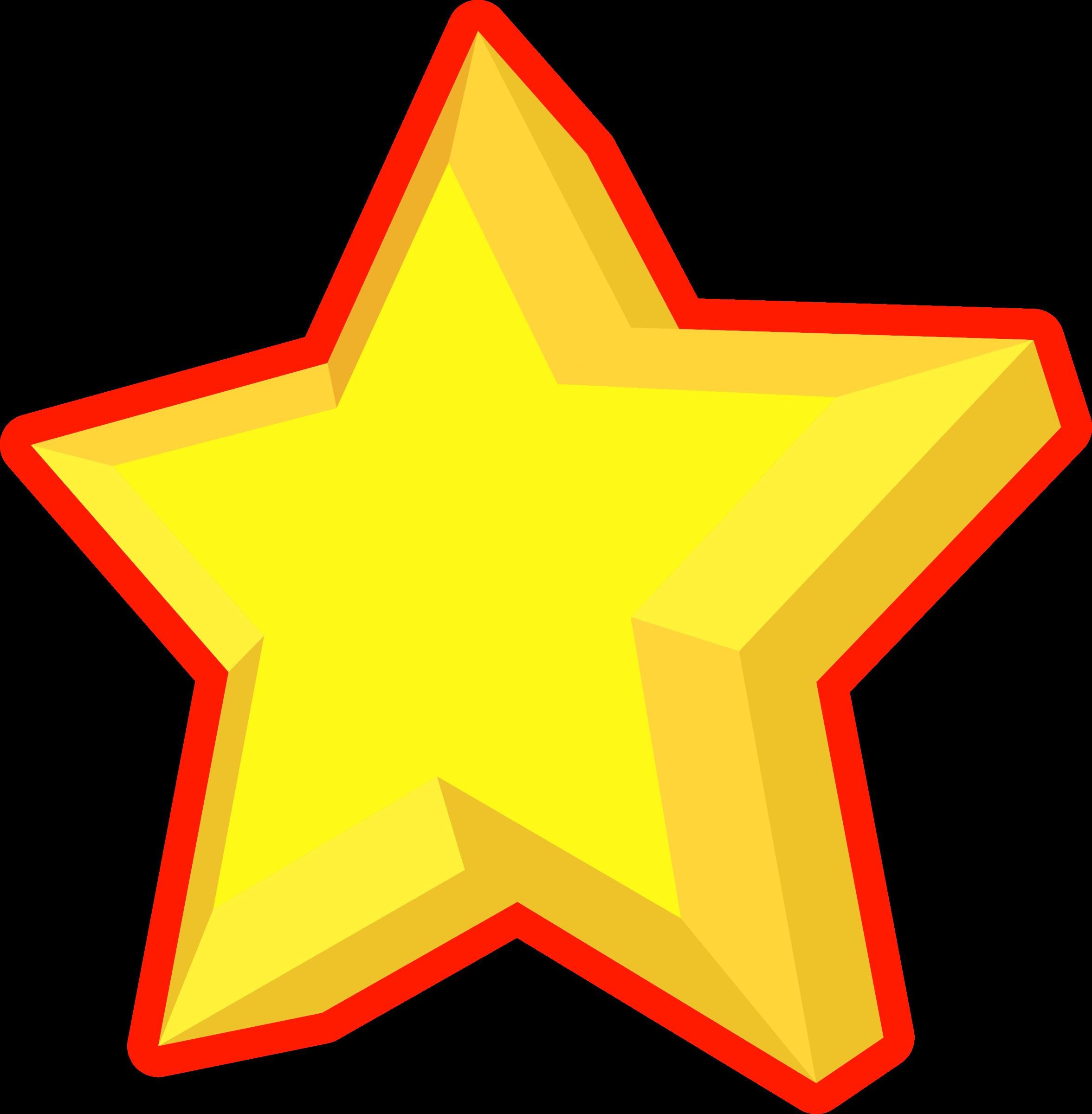 Star reward clipart banner royalty free download Clipart - Simple 3D Star banner royalty free download