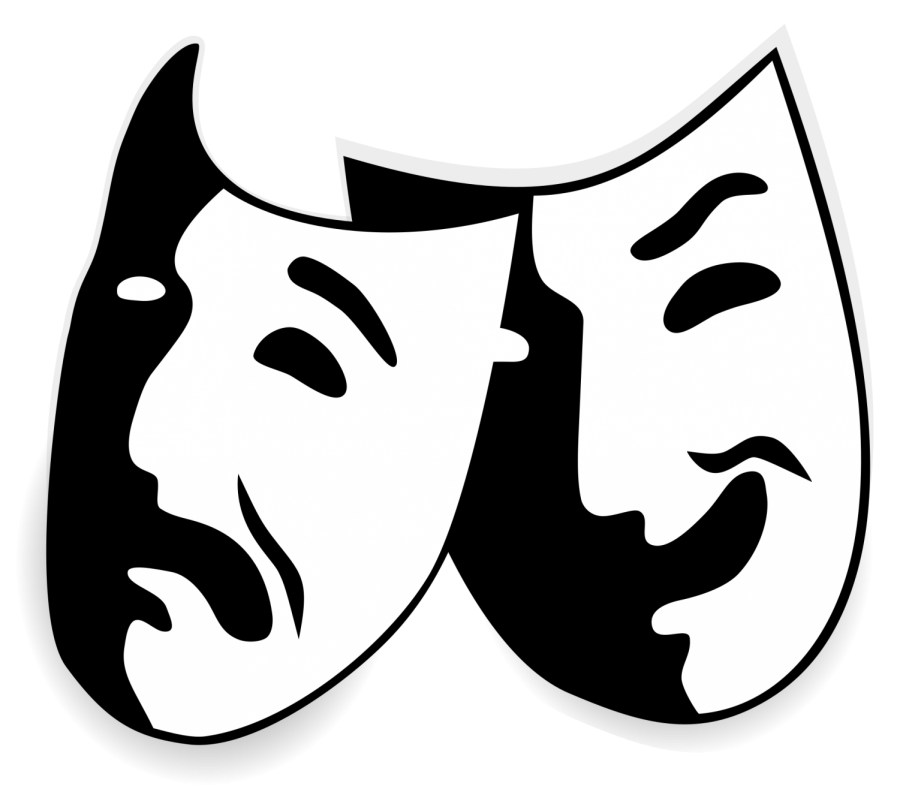 Star clipart black and white drama vector Thespians narrowly miss state-level competition – Forest Fire vector