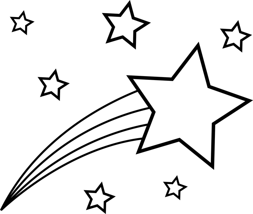 Star clipart black and white png banner free library Images of Shooting White Star Png - #SpaceHero banner free library