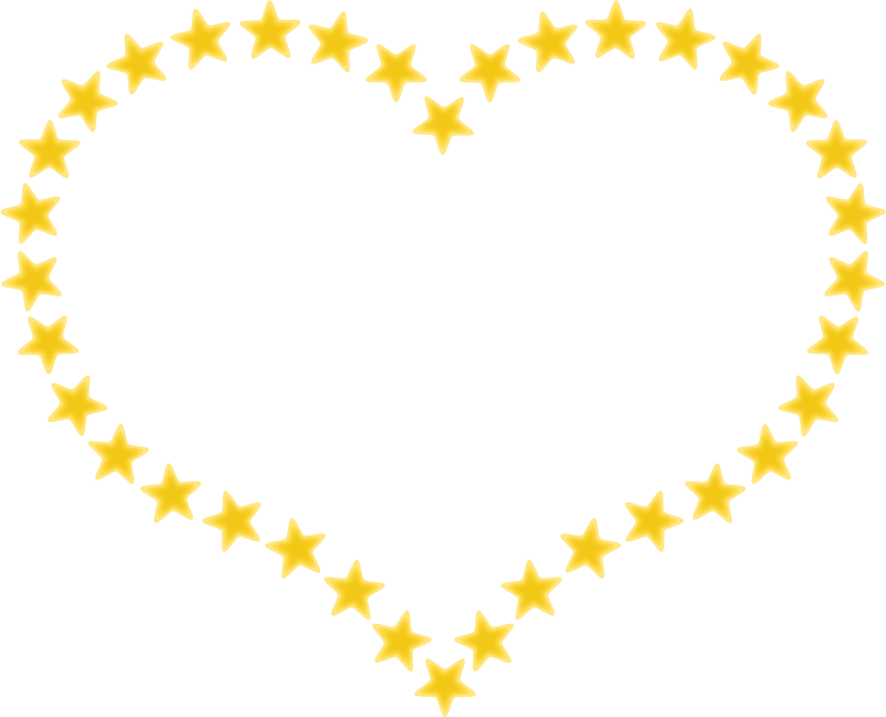 Star clipart borders picture black and white download Clipart - Heart Shaped Border with Yellow Stars picture black and white download
