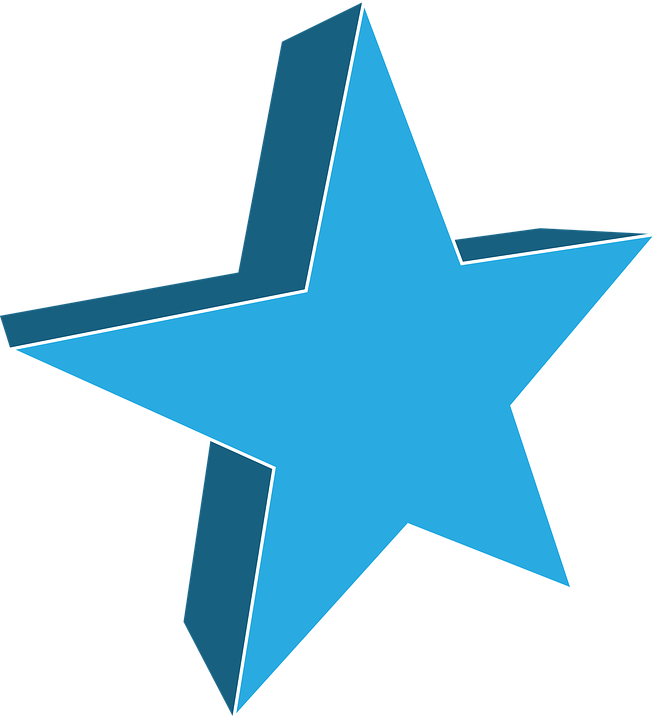 Teal Star Cliparts#4031548 - Shop of Clipart Library vector library