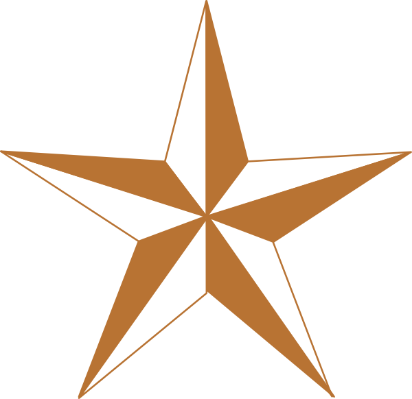 Star clipart free download clip art free Arizona Copper Star Clip Art at Clker.com - vector clip art online ... clip art free