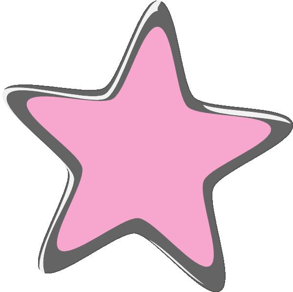 Star clipart pink free Silver Pink Star Clip Art at Clker.com - vector clip art online ... free