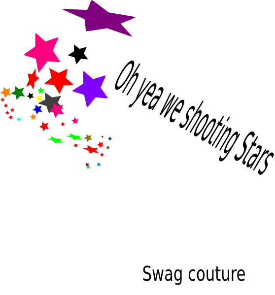 Star confetti clipart graphic black and white Shooting Stars Clip Art at Clker.com - vector clip art online ... graphic black and white