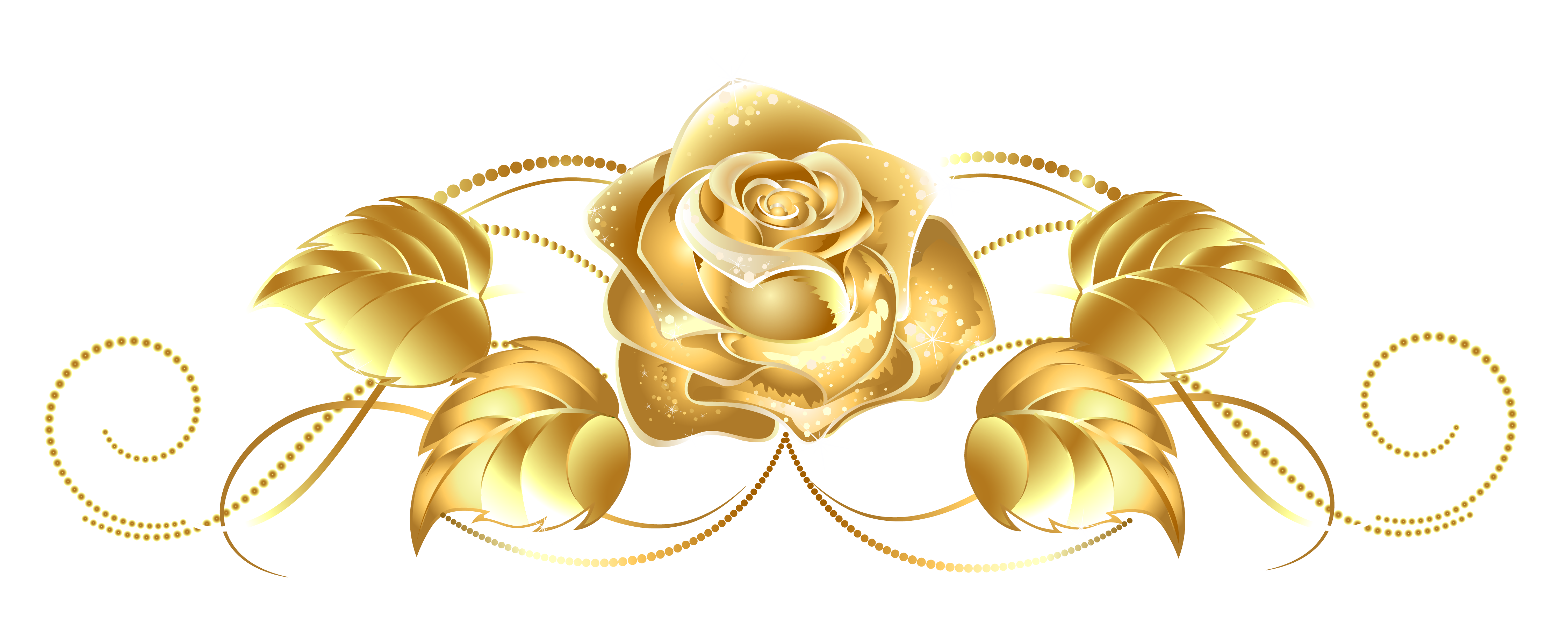 Star dust clipart picture download Beautiful Gold Rose Decor PNG Image - PurePNG | Free transparent CC0 ... picture download